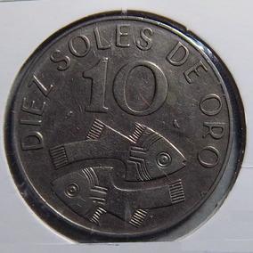 Perú 10 Soles De Oro 1969 Exc Km 253 Escudo Nacional