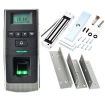 Kit Controle Acesso Biométrico Cartão E Fechadura Eletroima