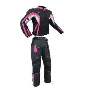 Conjunto Dama Chamarra Pantalon Motociclista Con Protec R7