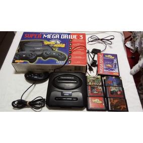 Mega Drive Completo Na Caixa Com 6 Jogos Show Do Milhão