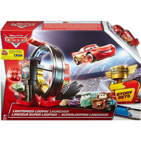 Carros Disney Pista Super Looping Relâmpago - Mattel Djc57