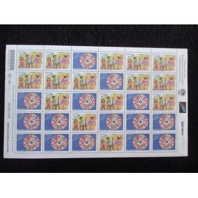 Folha Completa Criança Esperança 2002 C/ Todas As Quadras