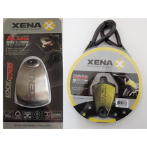 Candado Xena C/alarma Xx6 + Cable (para Motos)