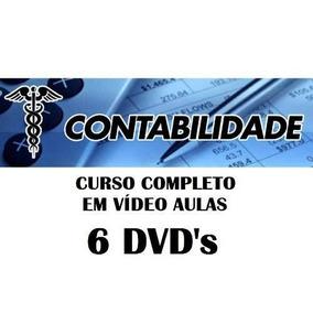 Curso Completo De Contabilidade Em 6 Dvds Frete Grátis T50