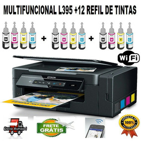 Multifuncional Epson L395 + 12 Refill De Tintas Sublimaticas