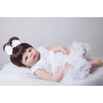 Bebe Reborn Vick Boneca Corpo Silicone Urso Pelucia Grátis