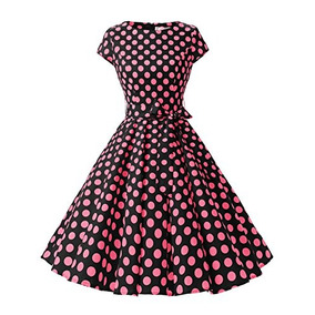 Disfraz Vestido Retro De Rockabilly De Los Años 50 De W60