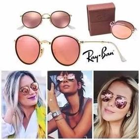 1582bf2d254d1 Ray Ban Round Espelhado Dobravel De Sol - Óculos no Mercado Livre Brasil