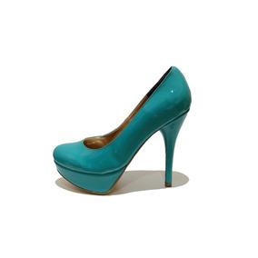 Padrísimas Zapatillas En Charol Verde Jade