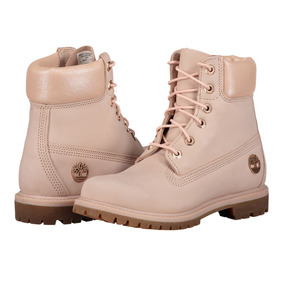 Bota Piel Timberland A1hl6 Mujer Rosa Metalico