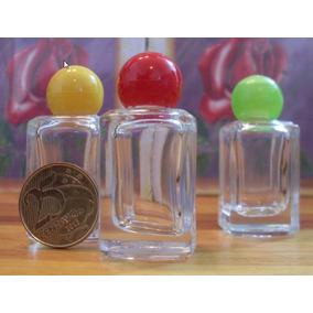 150 Frascos Para Perfume 10 Ml Vidro Quadrado E Tampa Bola