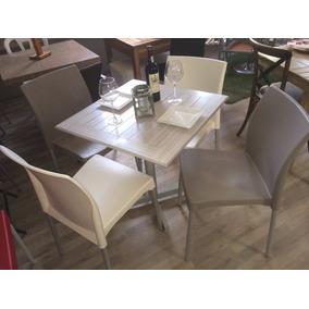 Mesa En Patina 4 Sillas Restaurantes Cafeterias Y Bares