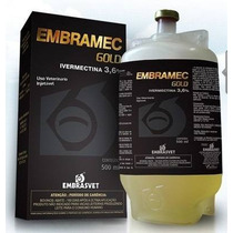 Embramec Gold 3,6 Ivermectina/vacas,bezerros 02 Frs 500 Ml