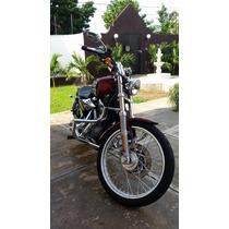 Defensa Cromada O Negro Mate Mostacho Para Harley 883 Y 1200