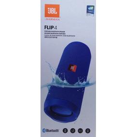 Caixa De Som Jbl Flip 4 Bluetooth Cor Azul Original