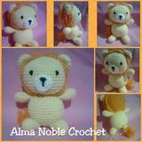 León Tejido A Crochet. Muñeco Amigurumi. Souvenirs