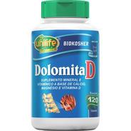 Dolomita Unilife 120 Cápsulas 950mg Magnesio + Vitamina D3
