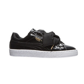 Tenis Puma Clasico Dama Basket Heart Patent Casuales Bco/ng