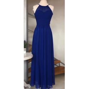 Vestido De Fiesta O Noche Talla Xs O 4 Azul