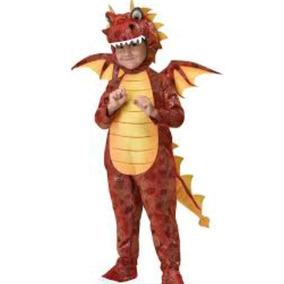 Dragon De Fuego, Rojo, Disfraz De Niñ0 7-8 Años