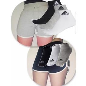 Medias adidas Mujer (2 Shorts + 1 Remera De Regalo)