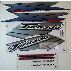 Jogo Faixa Adesiva Xr 250 Tornado Azul 2003