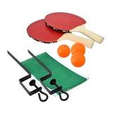 Ping Pong Kit Completo Bolas Rede Raquetes Adultos Crianças