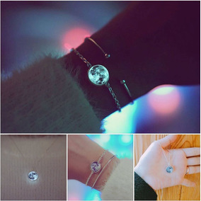 Collar O Pulsera Luna Llena Brilla En Obscuridad 50% Regalo