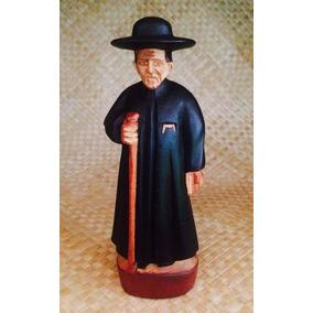 Padre Cicero Escultura Em Madeira Arte Sacra