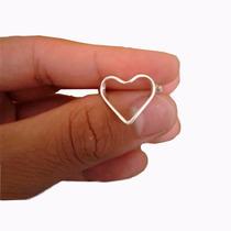 Anel Coração Vazado Prata 925 Feminino