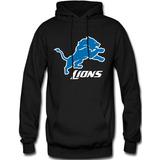 Sudadera Detroit Lions Nfl Hoodie Capucha Con Cangurera