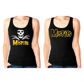 Musculosa Modal Mujer Misfits,danzig,punk,hardcore,fiend,sxe