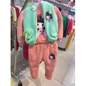 Conjunto Infantil Moletom Menina Feminina Grosso Colete