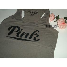 Musculosas Elastizadas Pink.corte Sport. S M - Deportivas