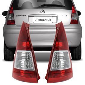 Lanterna Traseira Citroen C3 07 08 09 10 11 12 Bicolor