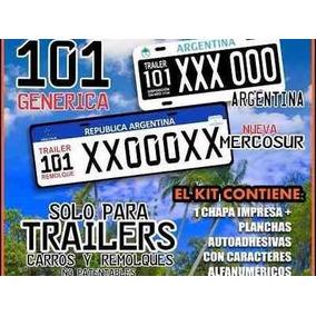 Chapa Patente Trailer Mercosur Envio A Todo El Pais