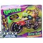 Tortugas Ninja Figura En Moto By Nickelodeon