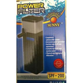 Filtro Interno Cabeza Poder Sunny Spf200 Peces Tortugas.