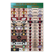 Poster - Todos Os Olhos De Naruto - Com Moldura