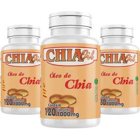 Oleo De Chia Oil 360caps 1000mg Emagrecedor Melcoprol 3un