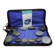 Kit Pedras Quentes Em Ágata + Manta Aquecimento 110v - 220v