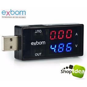Medidor Testador Usb Voltagem Amperagem 3v ~ 7.5v / 0a ~ 5a