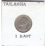Tailandia, Antigua Moneda De Nickel 1 Baht