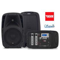 Kit Com 2 Caixas Acústicas Com Mesa Amplificada E Microfone