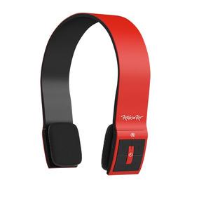 Headphone Rock In Rio Bluetooth Com Microfone Vermelho