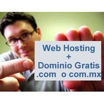 Web Hosting 32 Gb + Dominio .com.mx Gratis! $860 Mxn Año