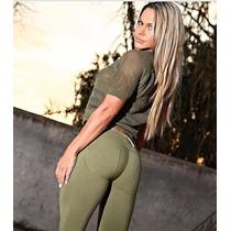 Pantalón Strech Ajustado Sexy Leggings Mujer Con Push Up