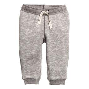 Pantalon Jogging Frizado Melange H&m 12 A 24 Meses