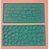 Molde Texturador De Ladrillos Y Rocas X2 - 14x7cm