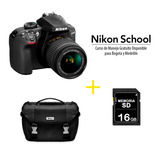Cámara Nikon D3400 +18-55mm Af-p Vr + Sd 16gb +maletin